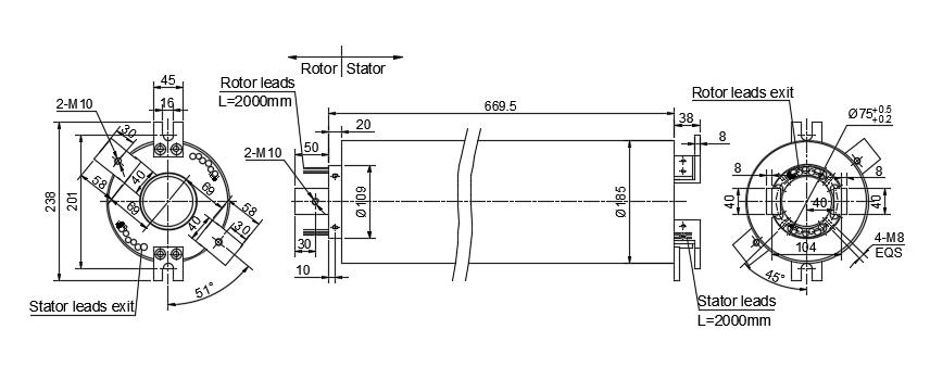 大功率导电滑环图纸