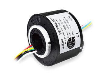 过孔式导电滑环